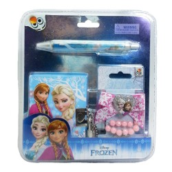 Disney Frozen Notebook Set with Hair Accessories