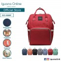 'Iguana Online Fashion Mummy Waterproof Maternity Nappy Diaper Travel Backpack Nursing Bag for Baby (Red)'