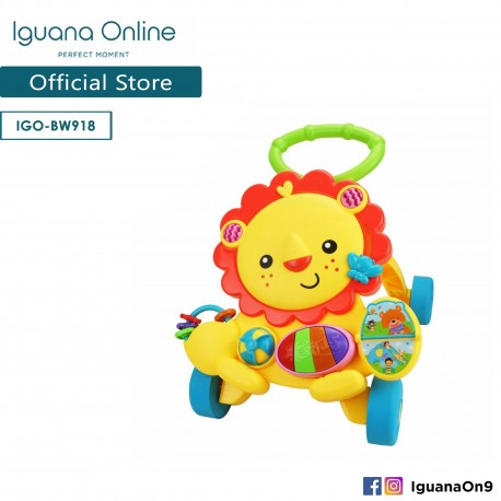 'Iguana Online BW918 Education Learning Baby Walker Car Activity Musical Piano (Lion)