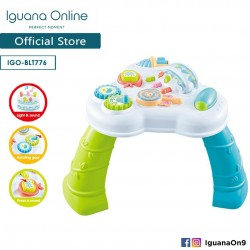 'Iguana Online Multifunction Study Education Baby Kids Sit Play Activity Learning Desk Table Toy with Light and Music'