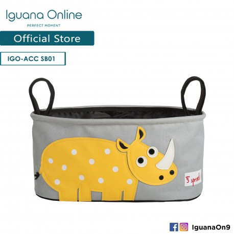 'Iguana Online Universal Multipurpose Stroller Organizer Hang Bag Accessories Portable with Cup Holder (Rhino)'