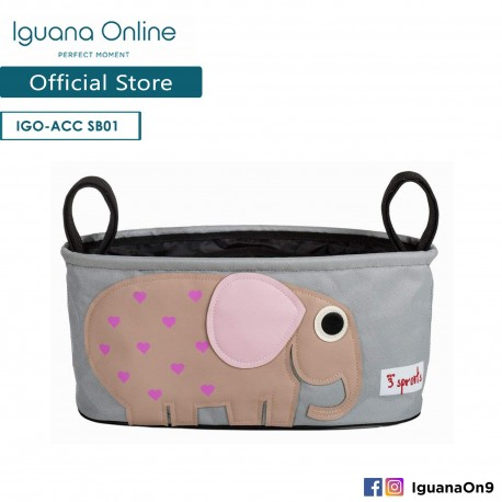 'Iguana Online Universal Multipurpose Stroller Organizer Hang Bag Accessories Portable with Cup Holder (Elephant)'