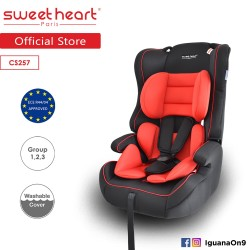 Sweet Heart Paris Safety Car Seat Booster (Black Red) with Side Protection