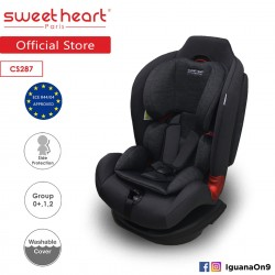Sweet Heart Paris CS287 Group 0+,1,2 Car Seat (Black Grey) with Shock Absorption