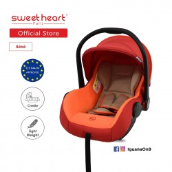 Sweet Heart Paris CS322 Car Seat cum Carriage (RED ORANGE) - 2019 Edition