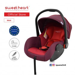 Sweet Heart Paris CS322 Car Seat cum Carriage (Rubine Red) - 2019 Edition