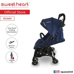 Sweet Heart Paris Stroller Compact ST CASEY(Blue) with Pull-up Luggage Handle\''