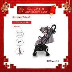 Sweet Heart Paris Stroller Compact ST CASEY (Fashion Collection) with Pull-up Luggage Handle