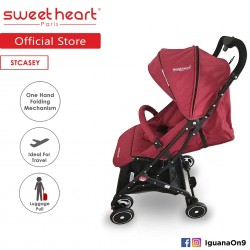 Sweet Heart Paris Stroller Compact ST CASEY(Red) with Pull-up Luggage Handle\''
