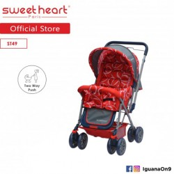 Sweet Heart Paris ST49 Stroller (Red) with Reversible Handlebar