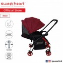 Sweet Heart Paris ST260 Compact Dirt Repellent Stroller (Red) with Reversible One-Handed Folding Sy