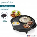 Iguana Online Multifunctional 1600W Electric Pan Grill BBQ Steamboat Electric Hotpot With Shabu Sha