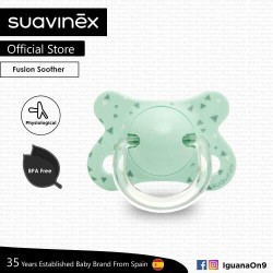 Suavinex BPA Free -2 - 4 Months Fusion Physiological Soother Pacifier For Premature Baby (Green)