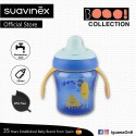 Suavinex Boo Collection BPA Free Non Spill Learning Cup with Handles and Spout (Blue)