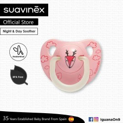 Suavinex BPA Free 0 - 6 Months Night  and  Day Anatomical Soother Pacifier (Pink Deer)