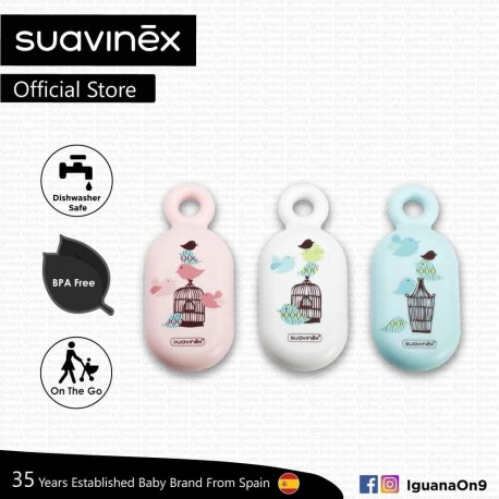 Suavinex BPA Free Newborn 0+ Baby Nursery Bubbles Thermometer Bath Tub (Assorted Color)