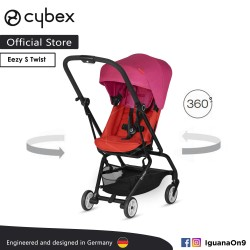 Cybex Gold Eezy S Twist (Fancy Pink) Stroller With 360 Degree Rotation