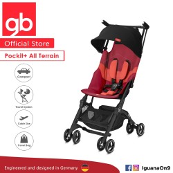 [Official Store] GERMANY gb Pockit Plus ALL TERRAIN (Rose Red) - World Lightweight Cabin Size Stroller with Rec