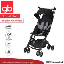 gb Pockit Plus All-Terrain (Velvet Black) - World Lightweight Cabin Size Stroller with Reclining Seat [Official Store] 2019