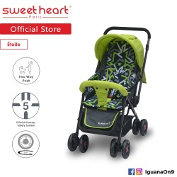 'Sweet Heart Paris ST220 Etoile Stroller with 8pcs Wheels and Reversible Handlebar (Star Green)'