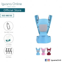 Iguana Online Seat Baby Carrier BBS103 with Four Seasons Breathable (Sky Blue)