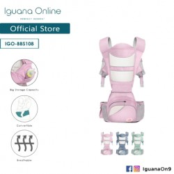 Iguana Online Seat Baby Carrier BBS108 with Four Seasons Breathable (Pink)