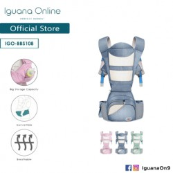 Iguana Online Seat Baby Carrier BBS108 with Four Seasons Breathable (Ocean Blue)