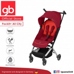 [Official Store] GERMANY gb Pockit Plus ALL CITY - World Lightweight Aluminium Cabin Size Stroller w (Rose Red)
