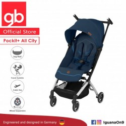 [Official Store] GERMANY gb Pockit Plus ALL CITY - World Lightweight Aluminium Cabin Size Stroller w (Night Blue)