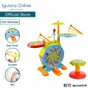 Iguana Online Educational Banging Bopping Drum Set with 10 Different Music and Songs for Kids to Lea