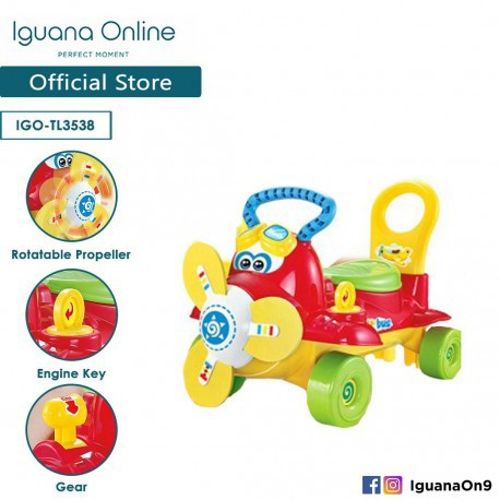 Iguana Online Air Bus Fun Tolocar/Ride-On Car TL3538 (Red)