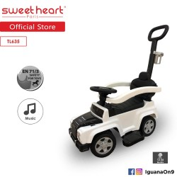 Sweet Heart Paris TL635 3 in 1 Ride On Car With Control From Push Bar(White)