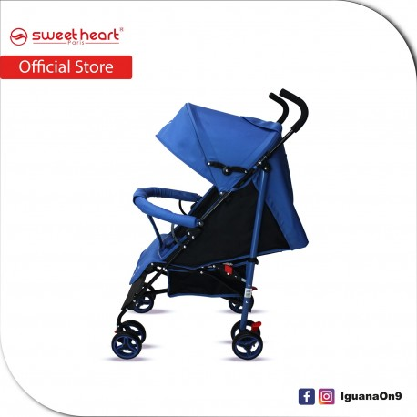 Sweet Heart Paris BG103 Durable Oxford Fabric Buggy Stroller with Umbrella Fold (Blue)