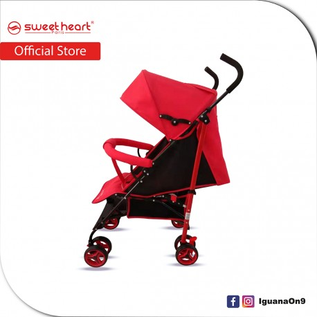 Sweet Heart Paris BG103 Durable Oxford Fabric Buggy Stroller with Umbrella Fold (Red)