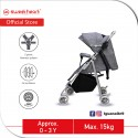 Sweet Heart Paris STMINO Compact Size Stroller with 8 EVA Wheels and 5 Point Harness (Grey)
