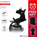 Sweet Heart Paris Compact Stroller SAVANNAH SE with Free Travel Bag (Cute Black Mouse Design)