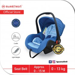 Sweet Heart Paris Group 0+ CS375 Car Seat Carrier with Adjustable Canopy ECE R44/04 Verifed (Blue) -