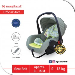 Sweet Heart Paris Group 0+ CS375 Car Seat Carrier with Adjustable Canopy ECE R44/04 Verified (Green)