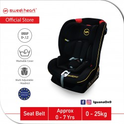 Sweet Heart Paris Group 012 CS DRANCY Safety Car Seat with Side Protection ECE R44/04 Verified (Black)