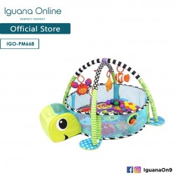 Iguana Online 3-in-1 Multifunctional Baby Infant Floor Play Mat with Toy Balls and Plush Toys PM668