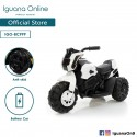 Iguana Online Kids Electrical Powered Motorcycle Toy 3 Training Wheel Children with LED Music BC999 (White)