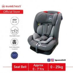 Sweet Heart Paris Group 012 CS DRANCY Safety Car Seat with Side Protection ECE R44/04 Verified (Grey)