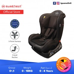 Sweet Heart Paris CS226 Group 01 Baby Car Seat Assurance JPJ Approved MIROS and ECE R44/04 Certified (Black)