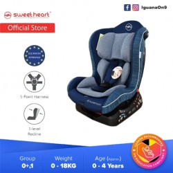 Sweet Heart Paris CS226 Group 0,1 Baby Car Seat Assurance JPJ Approved MIROS and ECE R44/04 Certified (Blue Violet)