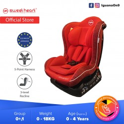 Sweet Heart Paris CS226 Group 01 Baby Car Seat Assurance JPJ Approved MIROS and ECE R44/04 Certified (Red)