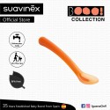 Suavinex Boo Collection BPA Free 4+ Months Soft and Flexible Spoon for Sensitive Gums (Orange)