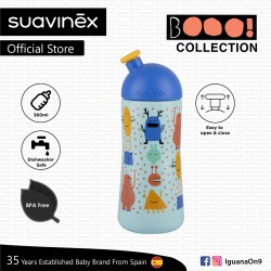 Suavinex Boo Collection BPA Free 18+ Months 360ml Non Spill Water Bottle (Blue)