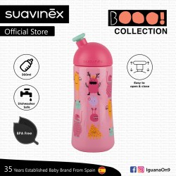 Suavinex Boo Collection BPA Free 18+ Months 360ml Non Spill Water Bottle (Pink)