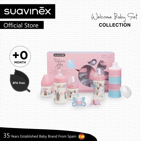 Suavinex Welcome Baby Set Collection for Newborn Baby (Pink)