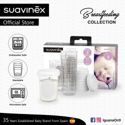 Suavinex BPA Free 0 Months Breastfeeding Collection Express Feeding Bottle Anti Colic Cap Seal Stack
